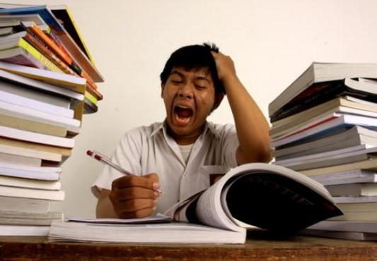 Image result for gambar stress belajar